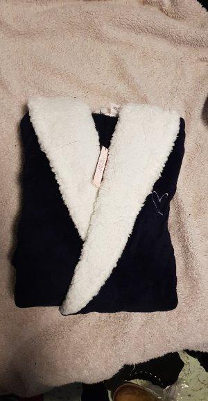 Victoria's Secret Bademantel mit Kapuze blau kurz neu XS