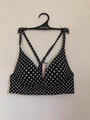 Victoria's Secret Bh soft bra dottet ohne Bügel NEU schwarz weiß Soft BH