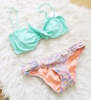 Victoria's Secret Bikini Hose Slip knapp sexy bunt nein orange rosa XS NEU