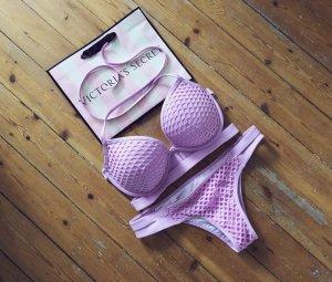 Victoria's Secret Bikini Set Mesh Netz Pink Rosa