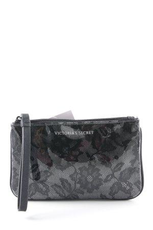 Victoria's Secret Clutch schwarz-anthrazit florales Muster Romantik-Look