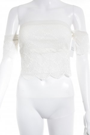 Victoria's Secret Cropped Top creme Boho-Look