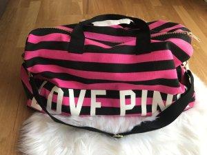 Pink Victoria's Secret Borsa da viaggio nero-rosa