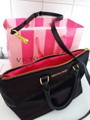 victoria's secret handtasche abendtasche tasche clutch neu pink schwarz gold
