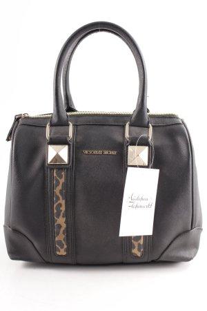 Victoria's Secret Handtasche schwarz Leomuster Matt-Optik