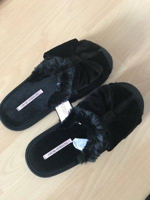 Victoria's Secret Zapatillas para casa negro