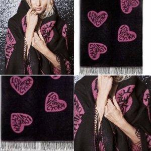 Victoria's Secret Herz Logo Schal Kuscheldecke