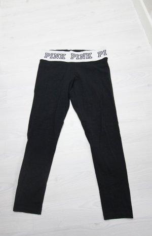 Victoria's Secret Pantalone da ginnastica bianco-nero