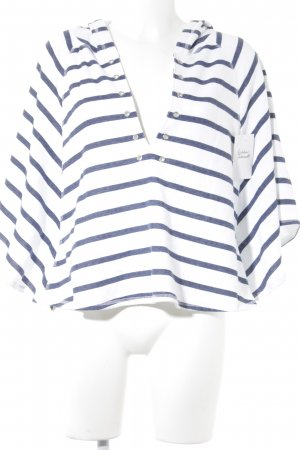 Victoria's Secret Kapuzenpullover dunkelblau-weiß Streifenmuster Casual-Look