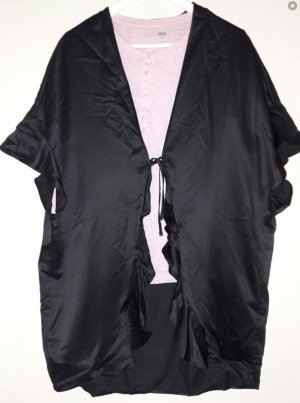 Victoria's Secret Kimono Cape Morgenmantel Schwarz Einheitsgröße Satin One Size