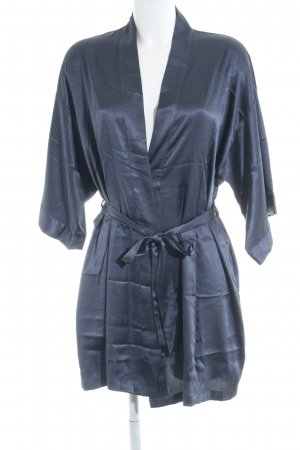Victoria's Secret Kimono steel blue wet-look