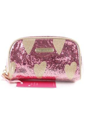 Victoria's Secret Minitasche magenta-goldfarben Glitzer-Optik
