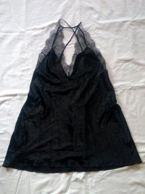 Victoria's Secret Negligé Negligée mit tiefem Rückenausschnitt schwarz Gr. L neu