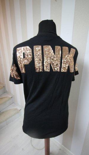 VICTORIA´S SECRET PINK BLING BLING PAILLETTEN T-SHIRT TOP GR L