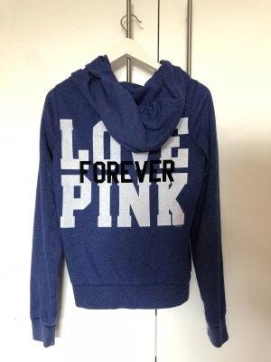Victoria's Secret PINK – gut erhaltener Hoodie mit Reißverschluss/Sweatjacke in blau