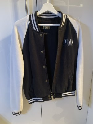 Pink Victoria's Secret College Jacket white-dark blue