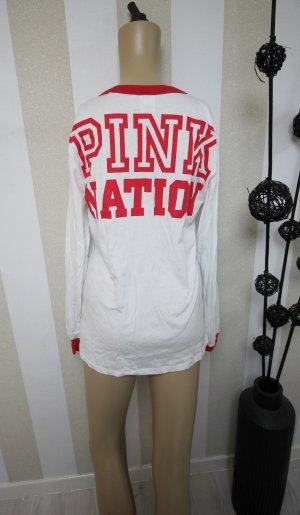 VICTORIA´S SECRET PINK NATION SWEATSHIRT PULLOVER SHIRT GR L