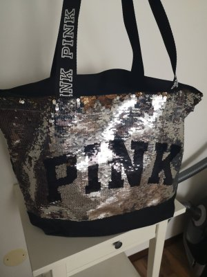 Pink Victoria's Secret Canvas Bag multicolored polyester
