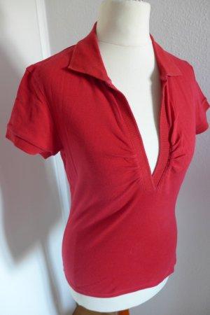 Victoria's Secret Poloshirt Shirt rot, Gr. XS, tiefer Ausschnitt