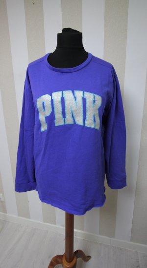 Victoria´s Secret Pullover Sweater glitzer Schrift Gr M