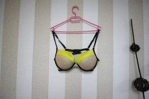 Victoria's Secret Soutien-gorge noir-jaune