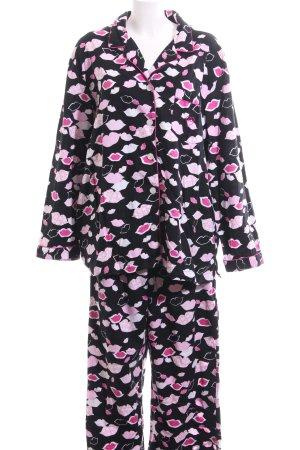 Victoria's Secret Pyjama schwarz-pink Allover-Druck Casual-Look