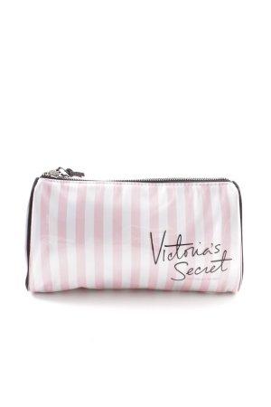 Victoria's Secret Schminkkoffer pink-weiß Streifenmuster Casual-Look