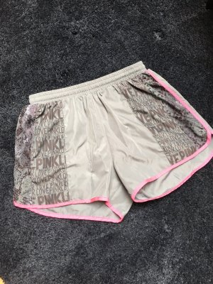 Pink Victoria's Secret Sport Shorts silver-colored-pink