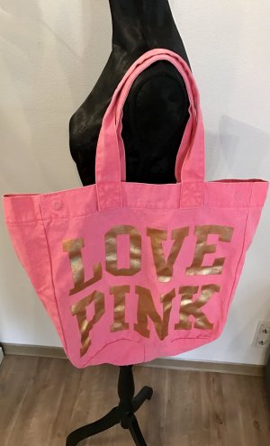 Victoria's Secret Canvas Bag pink-gold-colored