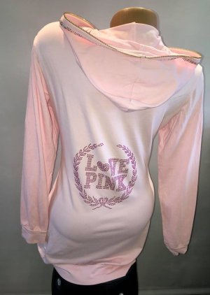 Victoria´s Secret Sweat Long Pullover in gr 38/40 Neu Strass Rosa