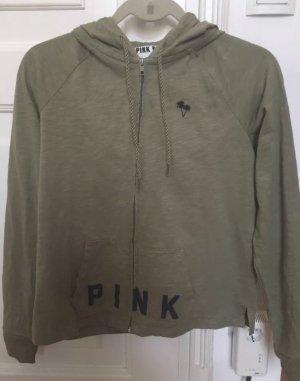 Victoria's Secret Sweatshirt Jacke Khaki grün XS
