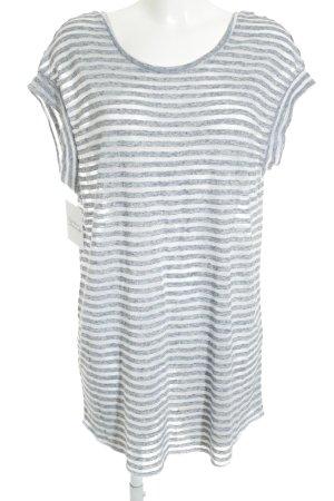 Victoria's Secret T-Shirt wollweiß-kornblumenblau Streifenmuster Casual-Look