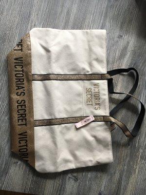 Victoria's Secret Tasche - Shopper - mit Reißverschluss- Gold - Glitzer - neu mit Etikett