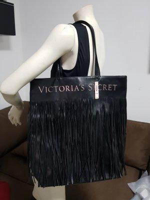 Victoria's Secret Fringed Bag black-neon pink imitation leather