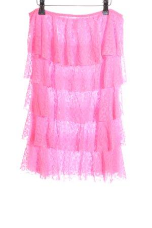 Victoria's Secret Gonna a balze rosa Stampa leopardata stile festa