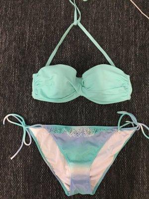 Victoria's Secret wattierter Bandeau-/Triangel Bikini Gr. 38 / 36C wie neu
