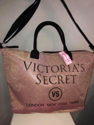 Victoria's Secret Borsa shopper rosa-argento Tessuto misto