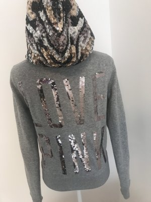 Pink Victoria's Secret Hooded Sweatshirt grey