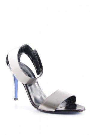 VICTORIA SENKPIEL High Heel Sandal silver-colored elegant