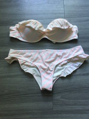Victorias Secret Bikini weiss rosa Balconette 34B S