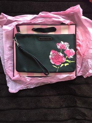 Victorias Secret Clutch schwarz mit Blume