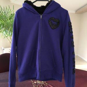Pink Victoria's Secret Fur Jacket dark violet-black