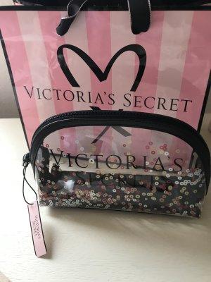 Victorias Secret Kosmetiktasche mit Glitzer Pailletten neu mit Etikett
