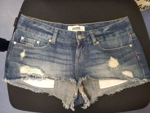 Victorias Secret Low Waist Jeans Shorts Gr. 34 XS blau