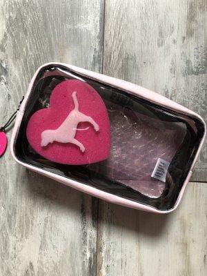 Victorias Secret Pink Kosmetiktasche mit einem Schwamm neu