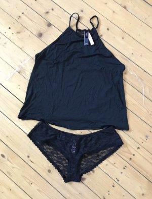 Victorias Secret Set Nachtwäsche schwarz mit Spitze neu mit Etikett