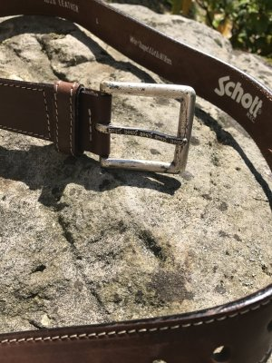 Schott Leather Belt multicolored leather