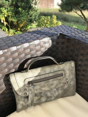 * Schöne neue Tasche in altsilberfarben *
