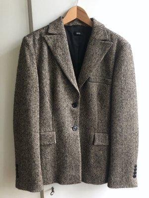 Hugo Boss Blazer in lana nero-beige chiaro Tessuto misto