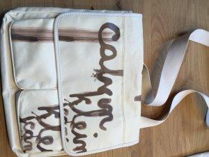 Calvin Klein Shopping Bag white-brown